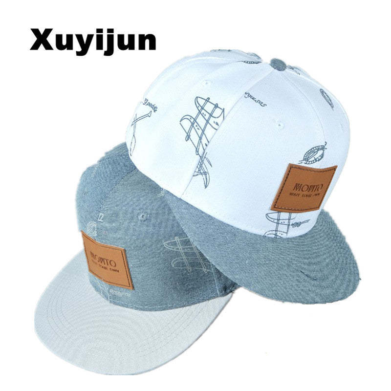 Xuyijun cotton denim baseball snapback cap