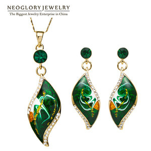 Neoglory Light Yellow Gold Color Enamel Jewelry sets