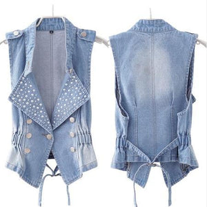 denim vest Slim thin - almajvirtualsolutions - A touch of Class
