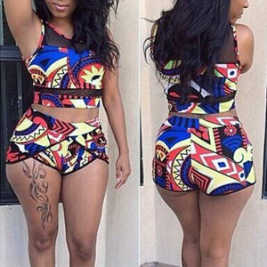High Waist Bikini Two Piece Swimsuit Push Up Padded