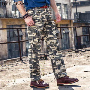 HEE GRAND Men Casual Camouflage Pants Full Length Whole Cotton Breathable Material Spring Autumn Trousers Size 29-40 MKX1237