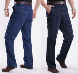 New style mens high waist Straight jeans