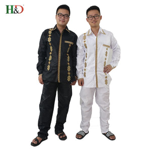 H&D Mens adashiki fashion traditional bazin riche embroidery
