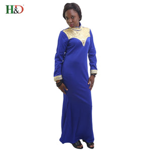 H&D Design robes African riche women dress traditional embroider