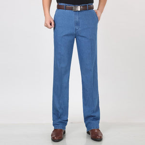 Men loose denim jeans