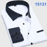 Men's Fashion  Long Sleeve Turn Down Collar casual shirts - almaj A touch of Class - 9
