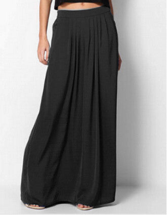 Womens Pleated Maxi Skirt  Casual - almaj A touch of Class - 9