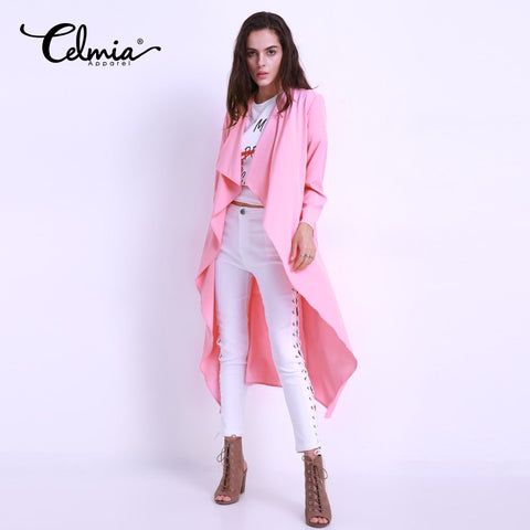Thin Blouse Kimonos Outwear Autumn Spring 2017 Fashion Belted Long Cardigan Casual Loose Blouses Women Blusas Tops Clothing 3XL