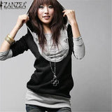 Sweatshirt Pullover  Hoodie Long Sleeve Patchwork Hoodies - almaj A touch of Class - 1