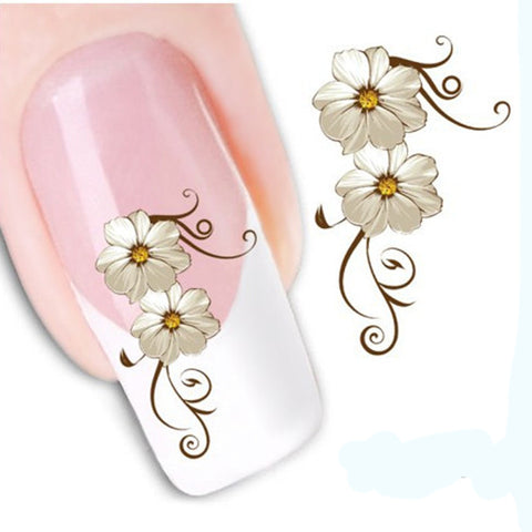 1PCS New Arrival Nail Stickers Water Transfer Nail Art Water Decals Beauty