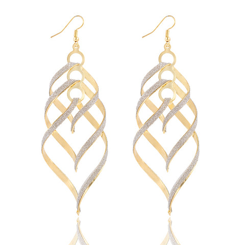 17KM New Brand Design Fashion Elegant Spiral Pendant Drop Earrings