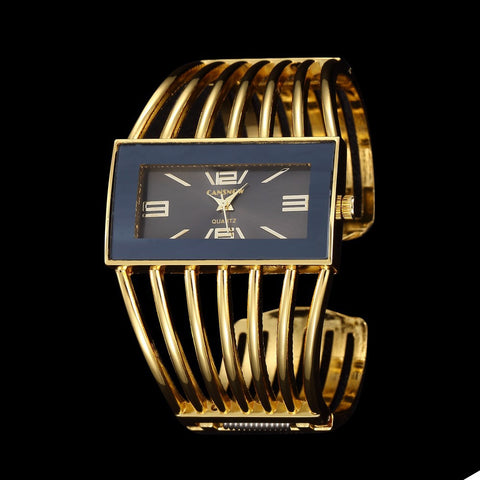 TIMARCO Fashion, Cuff Bracelet Wristwatch Stainless Steel 18K Gold - almaj A touch of Class - 4
