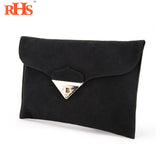 Suede  Purse Chain Handbag Envelope Flap - almaj A touch of Class - 1