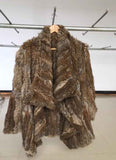 Genuine natural knitted rabbit fur coat - almaj A touch of Class - 2