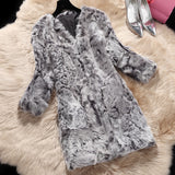Genuine natural wool Lamb Fur v neck jacket - almaj A touch of Class - 3