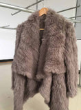 Genuine natural knitted rabbit fur coat - almaj A touch of Class - 5