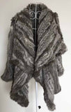 Genuine natural knitted rabbit fur coat - almaj A touch of Class - 4