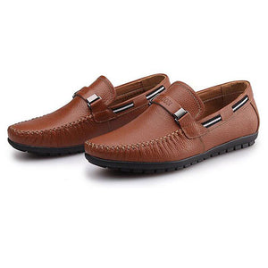 Genuine Soft Leather Men Boat Shoes - almaj A touch of Class - 4