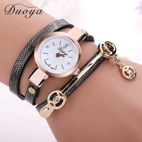 New Duoya Fashion, Women Bracelet Watch Gold Quartz - almaj A touch of Class - 1