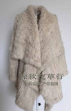 Genuine natural knitted rabbit fur coat - almaj A touch of Class - 7