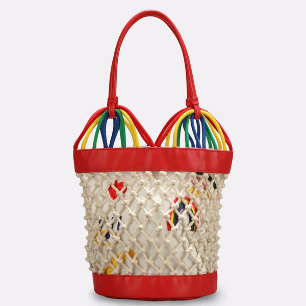 STELLA MCCARTNEY KIDS - Hearts Embroidery Bucket Bag