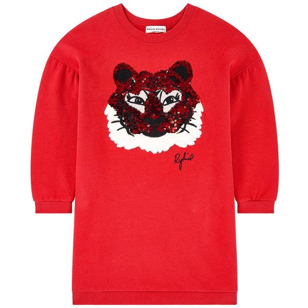 SONIA RYKIEL ENFANT - Ioshy Tiger Face Sweatshirt Dress