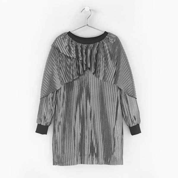 ANDORINE - Metallic Pleated Dress