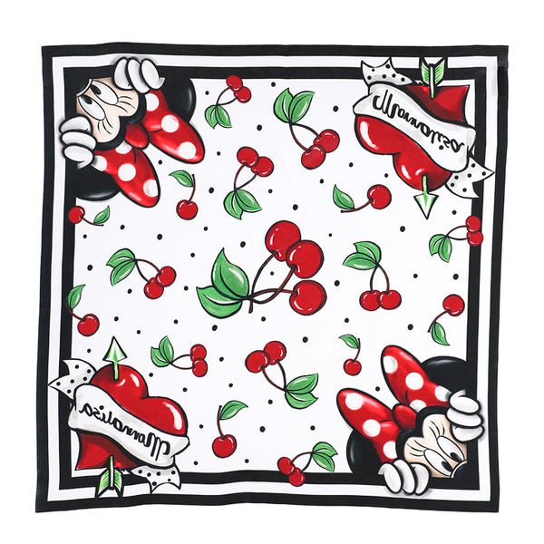 "MONNALISA - ""Minnie Mouse"" Cherry Print Scarf"