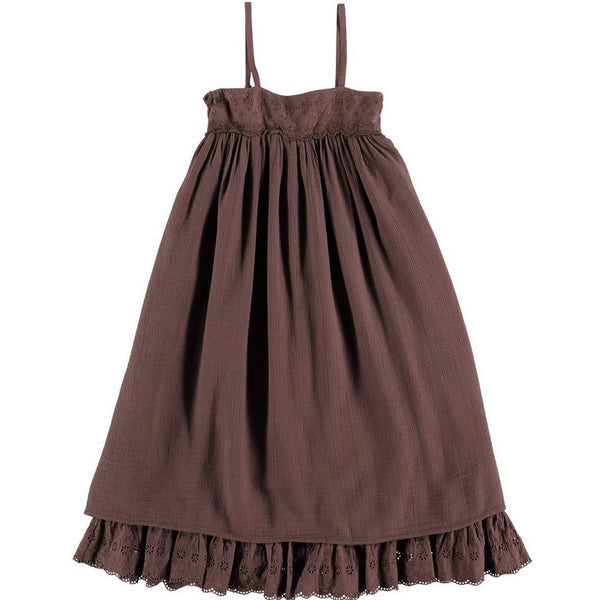 "BELLE CHIARA - ""EMILY"" - Burgundy Muslin Dress"