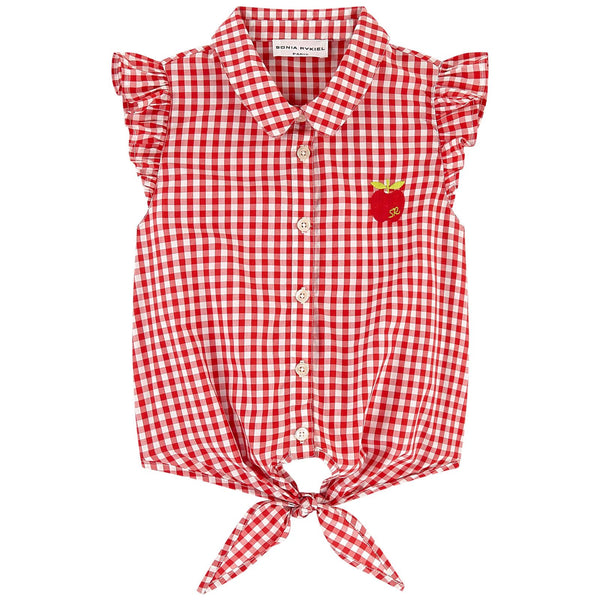 SONIA RYKIEL ENFANT - Elodie Sleeveless Blouse with Front Tie