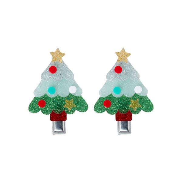 "LILIES & ROSES NY - ""Christmas Tree"" Glitter Alligator Clips"