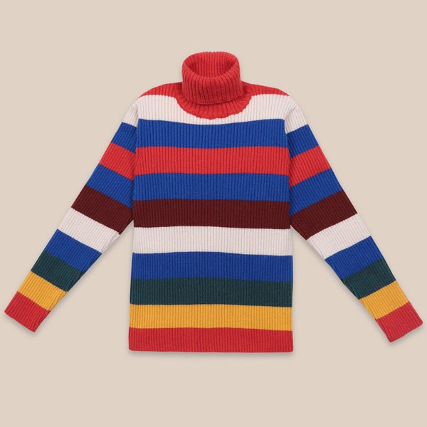 "BOBO CHOSES -""Catalogue of Marvelous Trades"" - Multicolor Stripes Turtleneck Jumper"