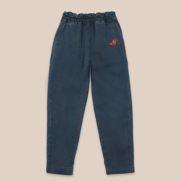 "BOBO CHOSES -""Catalogue of Marvelous Trades"" - Bird Embroidery Woven pants"