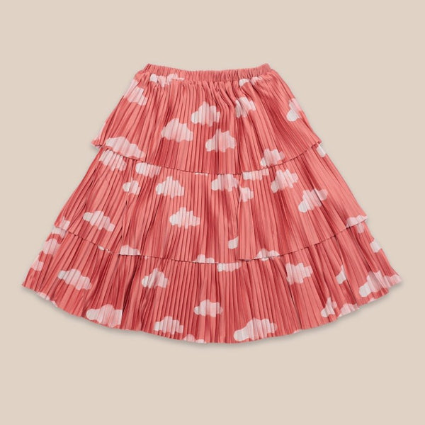 "BOBO CHOSES -""Catalogue of Marvelous Trades"" - Clouds All Over Woven Skirt"
