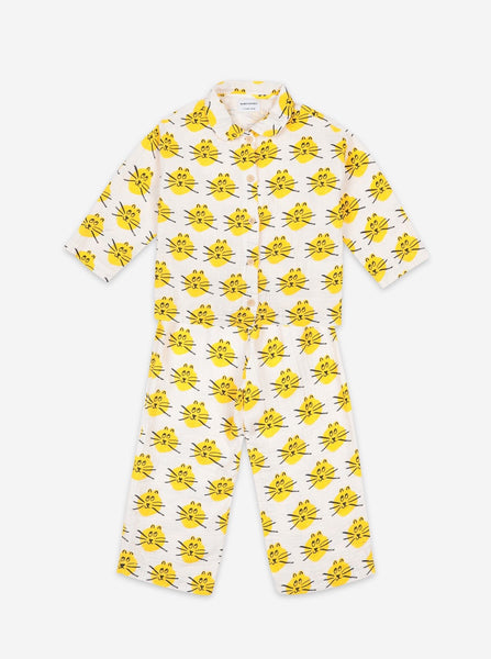 "BOBO CHOSES -""Fun Capsule"" - Cat All Over Woven Pajamas"