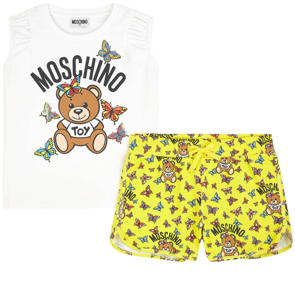 MOSCHINO - Butterflies Teddy Top and Shorts Set