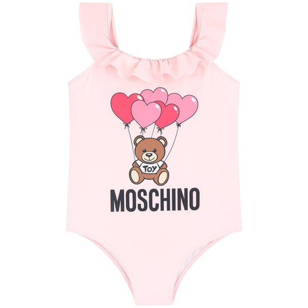 MOSCHINO - Heart Balloons Teddy Bear One-Piece Swimsuit