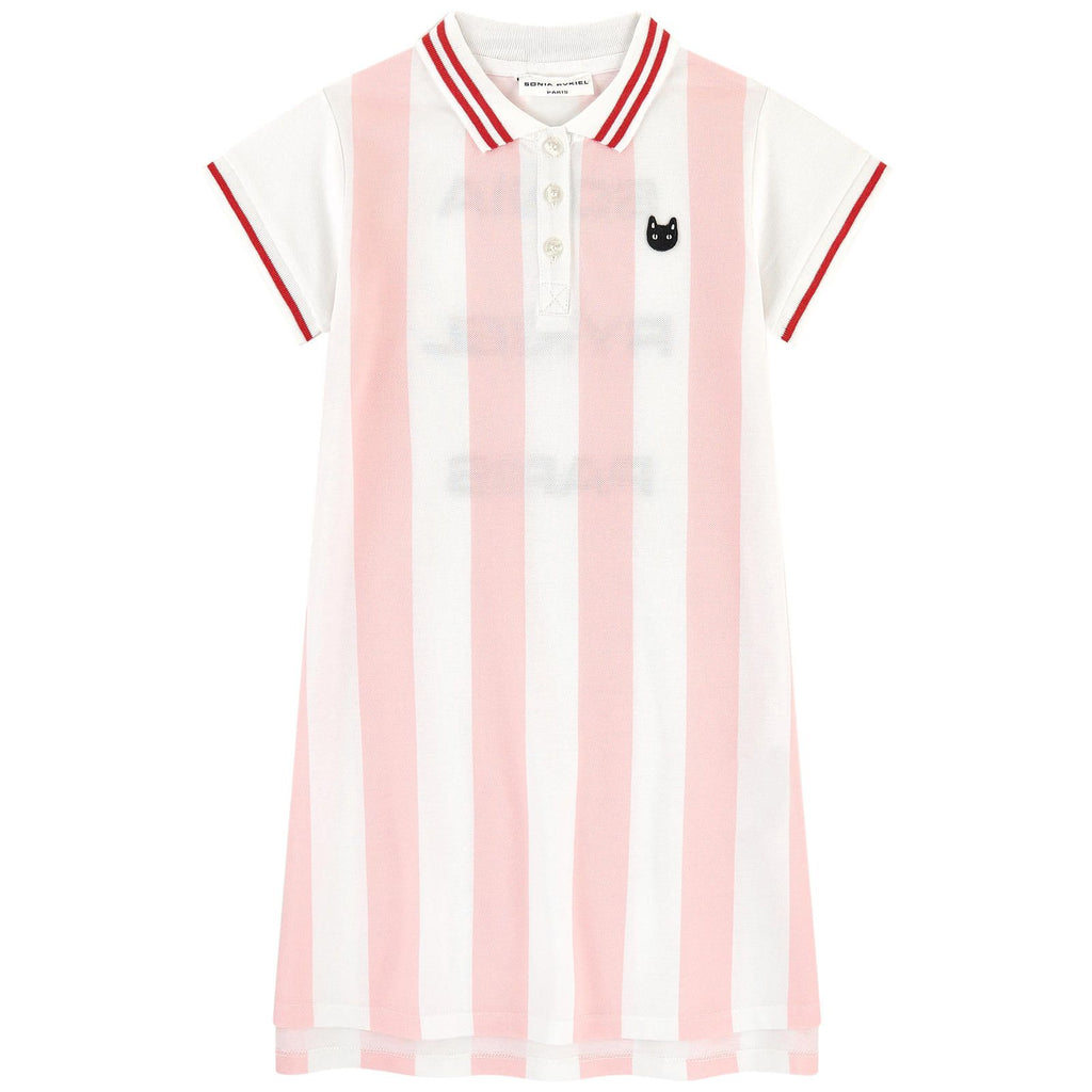 SONIA RYKIEL ENFANT - Edline Striped Polo Dress with Back Logo