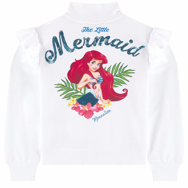 "MONNALISA - ""Little Mermaid"" Graphic Zip Jacket"