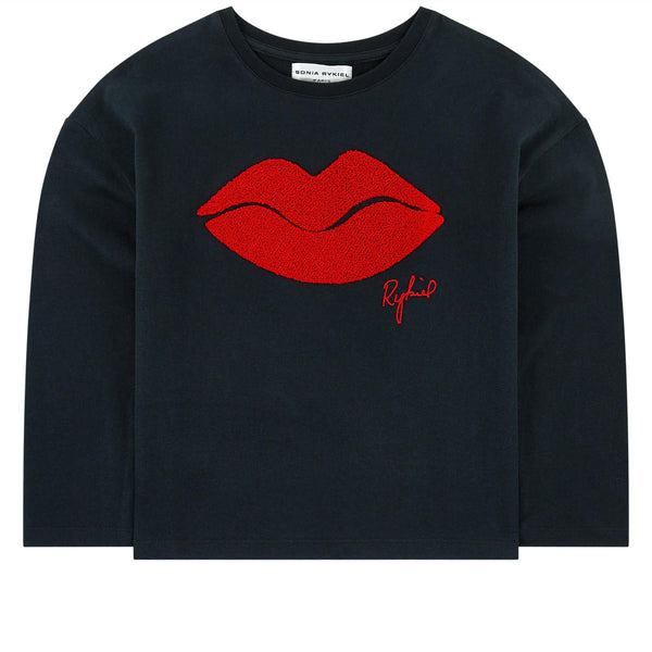 SONIA RYKIEL ENFANT - Ismile Long Sleeve Lip Tee
