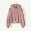 ANDORINE - Velvet Hooded Crop Top
