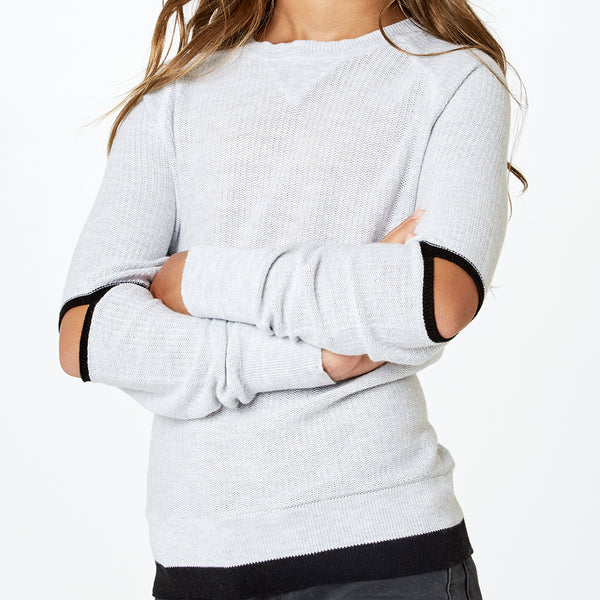 AUTUMN CASHMERE - Elbow Slit Raglan Crew