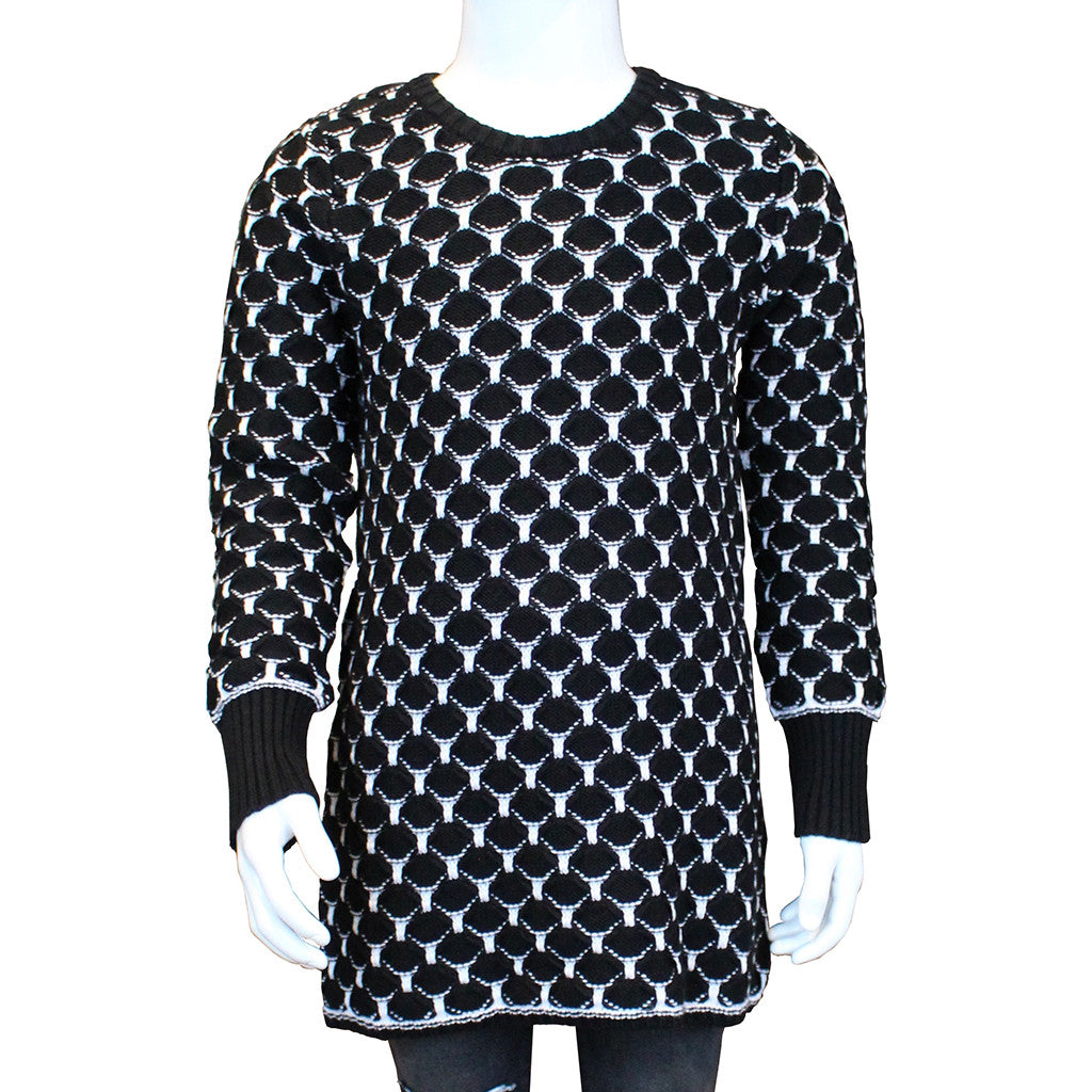 AUTUMN CASHMERE - Honeycomb Tunic with Zip Back