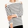 AUTUMN CASHMERE - Stripe Cold Shoulder