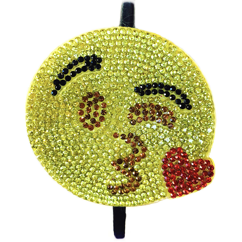 BARI LYNN - Crystal Kiss Blowing Emoji Headband