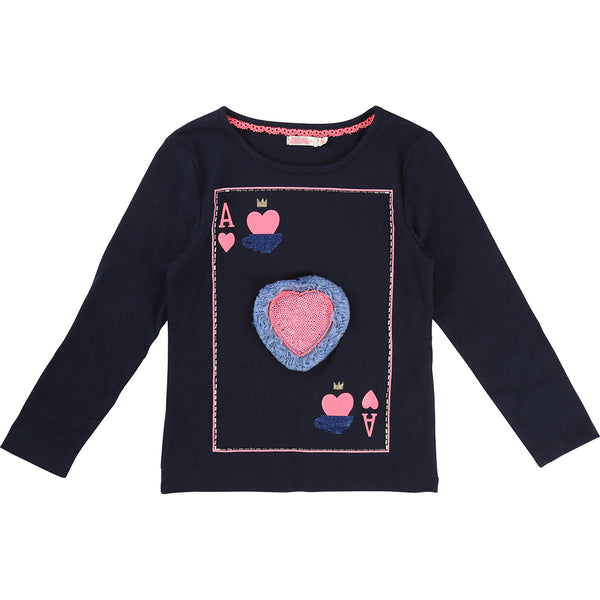 BILLIEBLUSH - Ace of Hearts Long Sleeve Tee