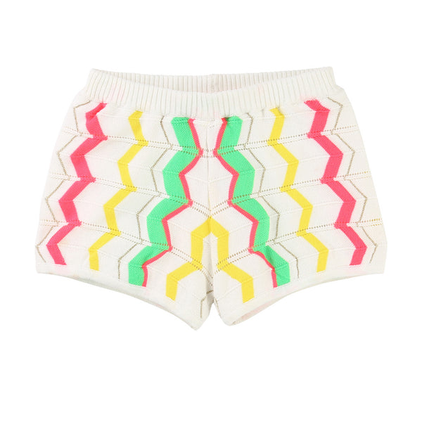 BILLIEBLUSH - Chevron Print Knit Shorts