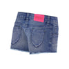 BILLIEBLUSH - Denim Cutoff Toucan Patch Shorts