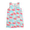 BILLIEBLUSH - Jersey Tank Dress with Allover Flamingo Print