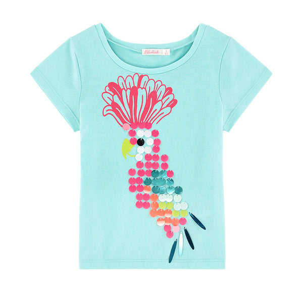 NEW ARRIVAL! - BILLIEBLUSH - Parrot Graphic Print Tee
